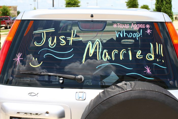 a wedding on the road