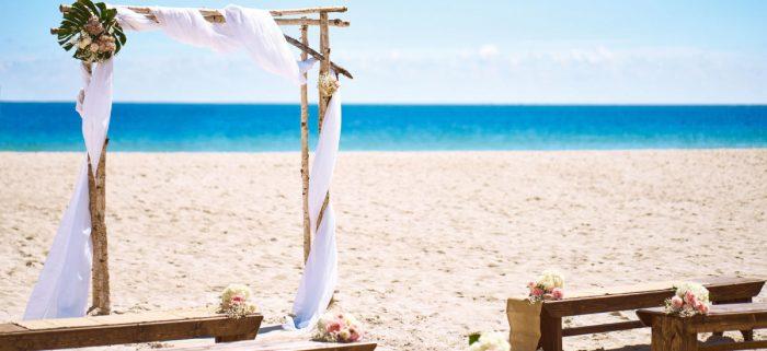 over seas wedding